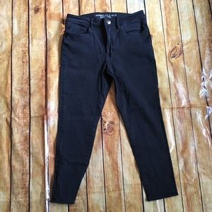 AMERICAN EAGLE Black High-Waisted Jegging 12 Short